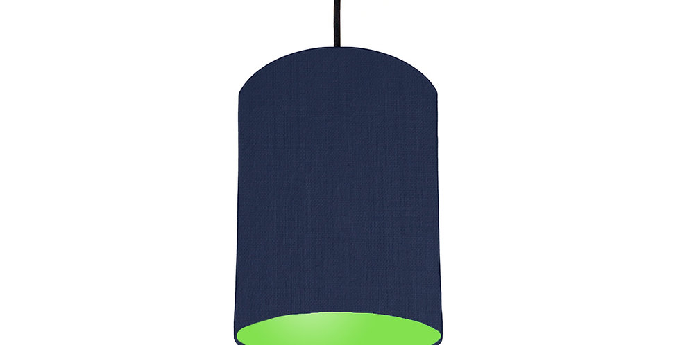 Navy Blue & Lime Green Lampshade - 15cm Wide