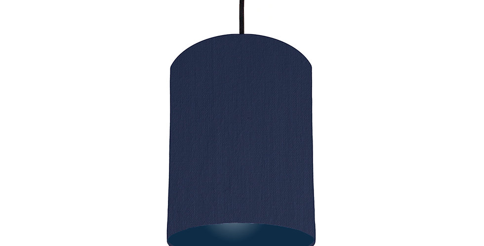 Navy Blue & Navy Lampshade - 15cm Wide