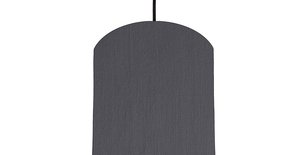 Dark Grey & Orange Lampshade - 20cm Wide