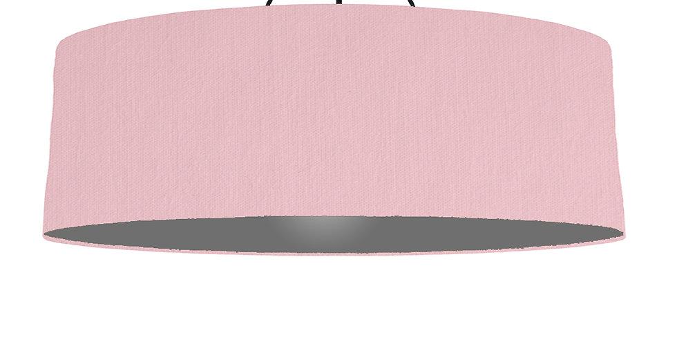 Pink & Dark Grey Lampshade - 100cm Wide