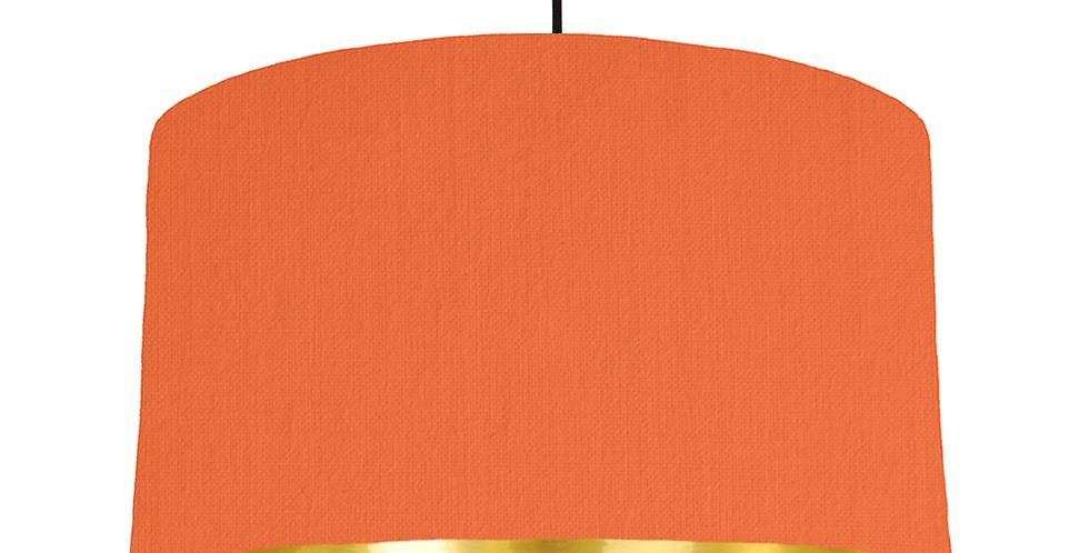 Orange & Gold Mirrored Lampshade - 50cm Wide