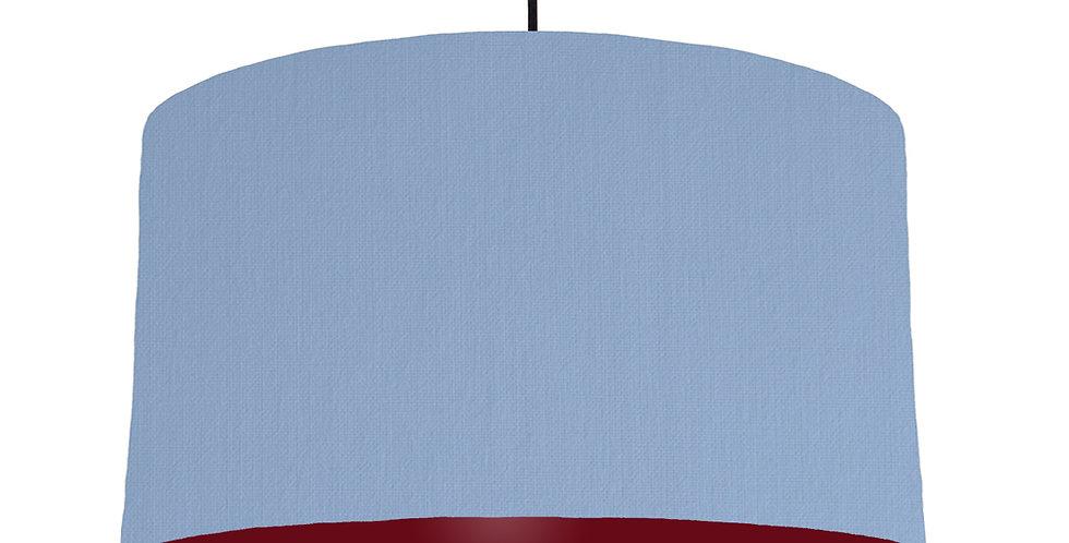 Sky Blue & Burgundy Lampshade - 50cm Wide
