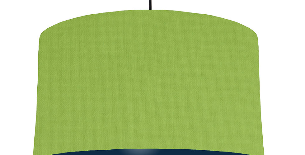 Pistachio & Navy Lampshade - 50cm Wide