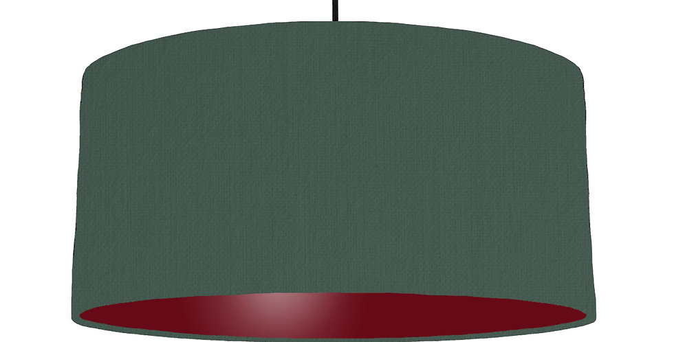 Bottle Green & Burgundy Lampshade - 60cm Wide