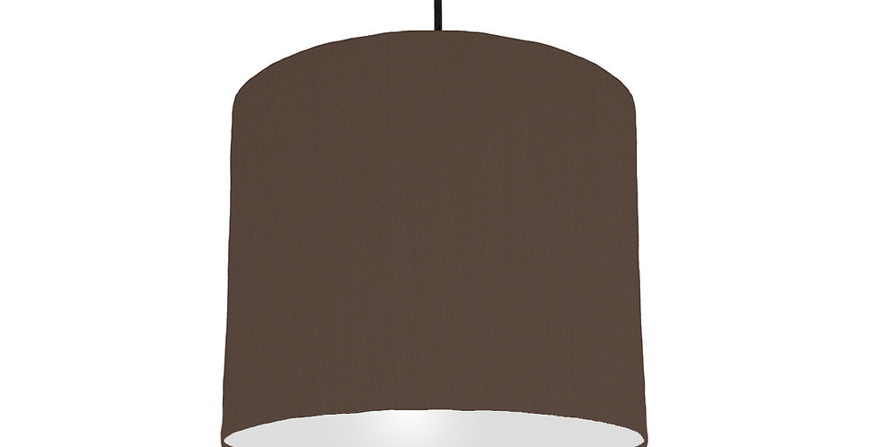 Brown & Light Grey Lampshade - 25cm Wide