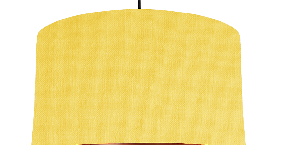 Lemon & Copper Mirrored Lampshade - 50cm Wide