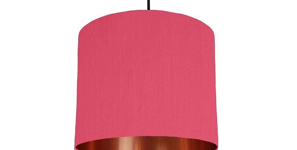 Cerise & Copper Mirrored Lampshade - 25cm Wide