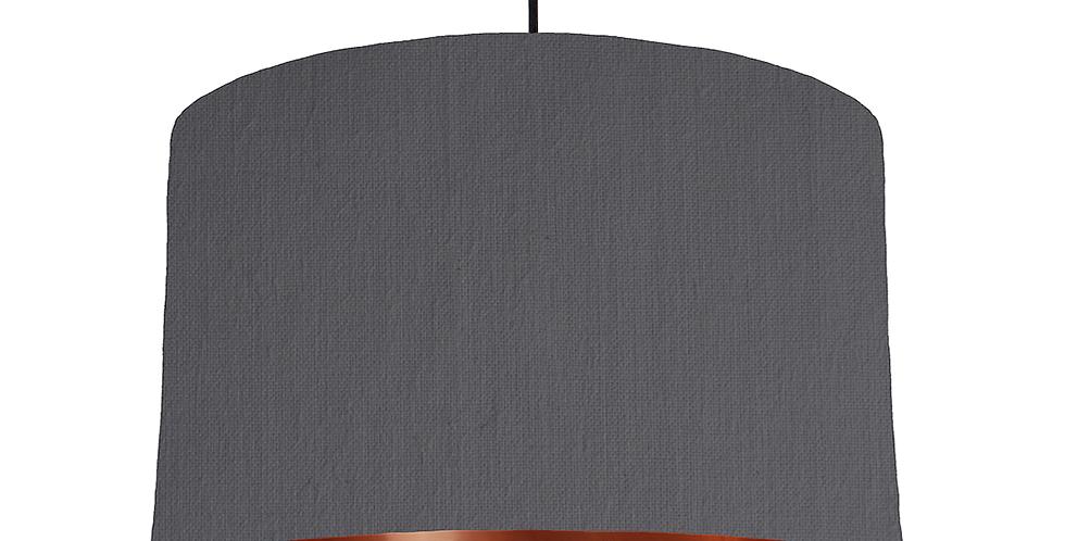 Dark Grey & Copper Mirrored Lampshade - 40cm Wide