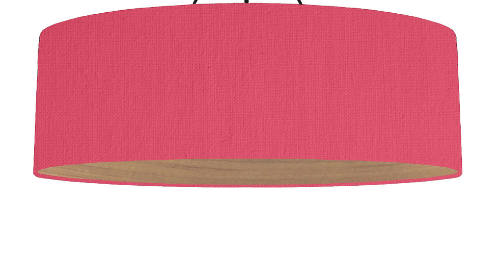 Cerise & Wooden Lined Lampshade - 100cm Wide