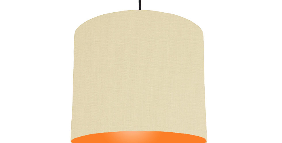 Natural & Orange Lampshade - 25cm Wide