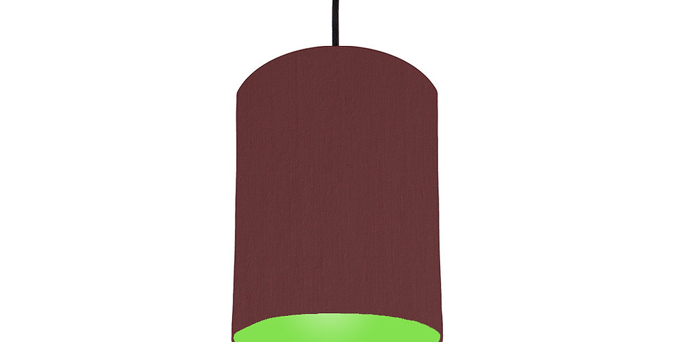 Wine Red & Lime Green Lampshade - 15cm Wide