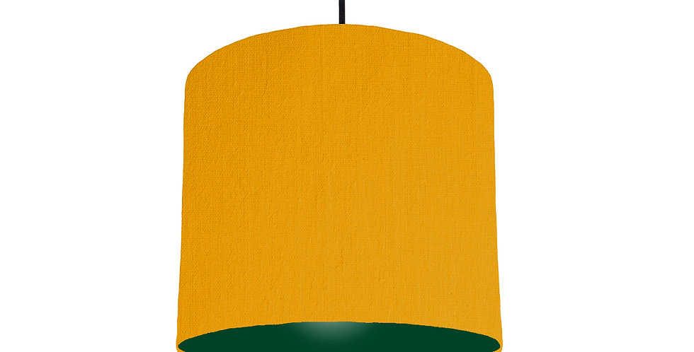 Mustard & Forest Green Lampshade - 25cm Wide