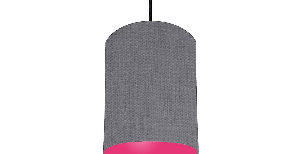 Dark Grey & Magenta Pink Lampshade - 15cm Wide