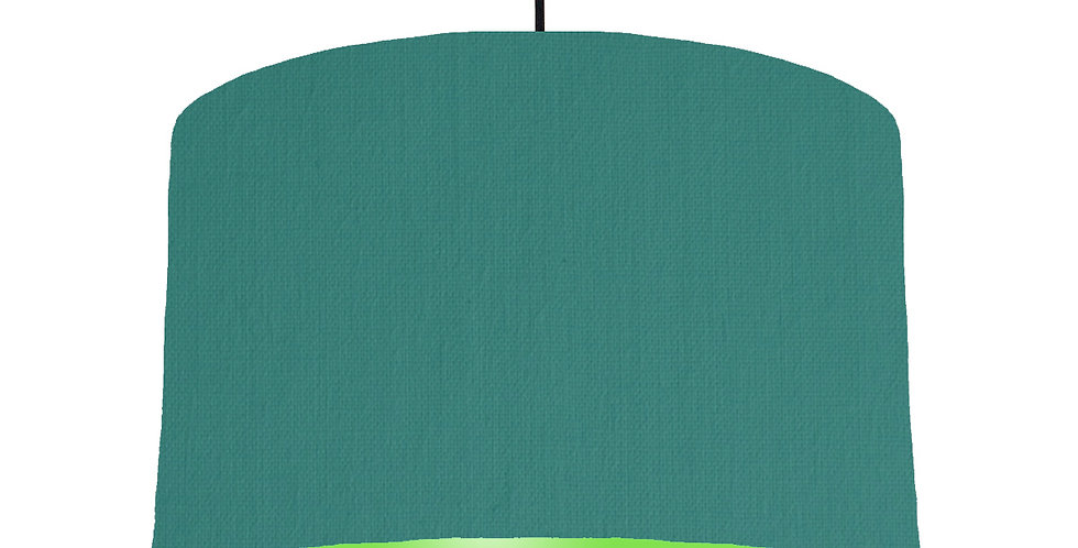 Jade & Lime Green Lampshade - 40cm Wide