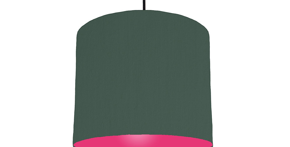 Bottle Green & Magenta Lampshade - 25cm Wide
