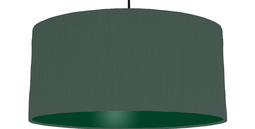 Bottle Green & Forest Green Lampshade - 60cm Wide