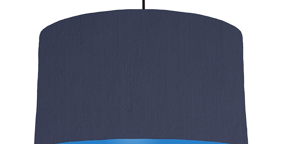 Navy Blue & Bright Blue Lampshade - 50cm Wide