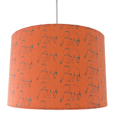 Coral Elephant Lampshade