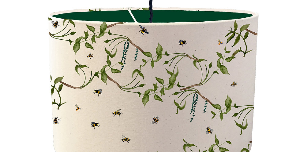 Busy Bee Lampshade - Colour Lining
