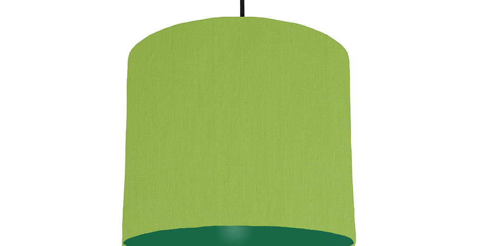 Pistachio & Forest Green Lampshade - 25cm Wide