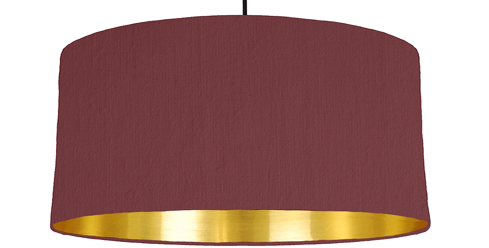Wine Red & Gold Mirrored Lampshade - 60cm Wide