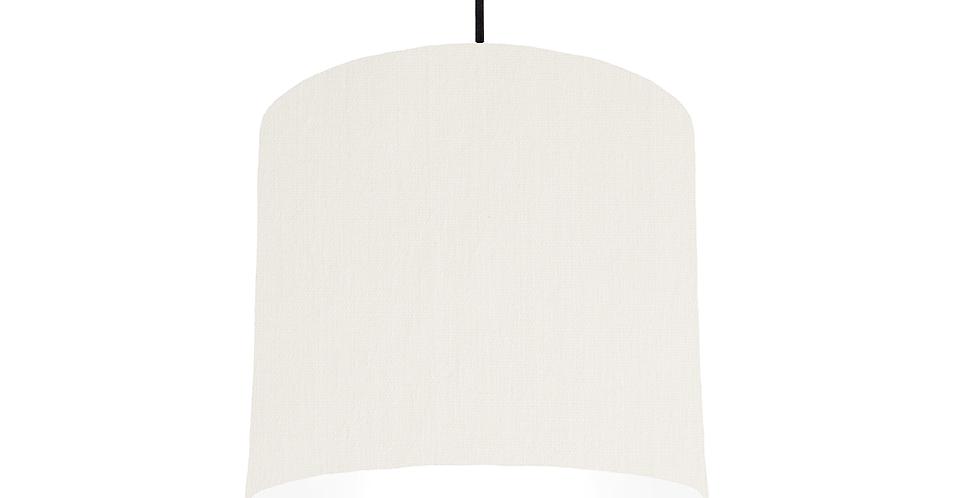 White & White Lampshade - 25cm Wide
