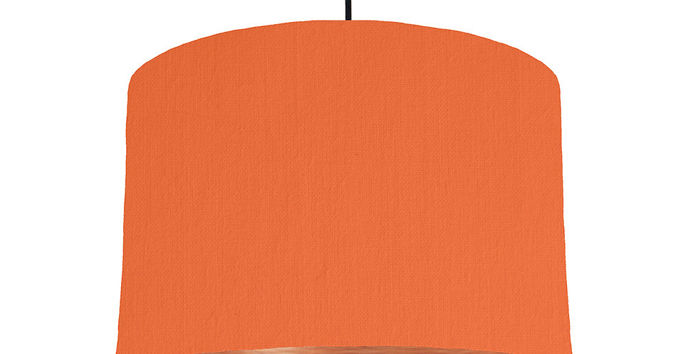Orange & Brushed Copper Lampshade - 30cm Wide
