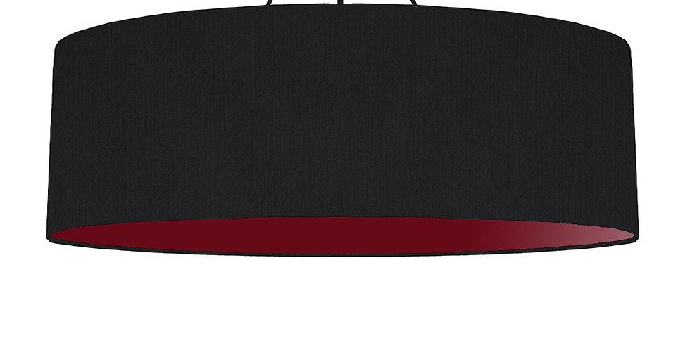 Black & Burgundy Lampshade - 100cm Wide