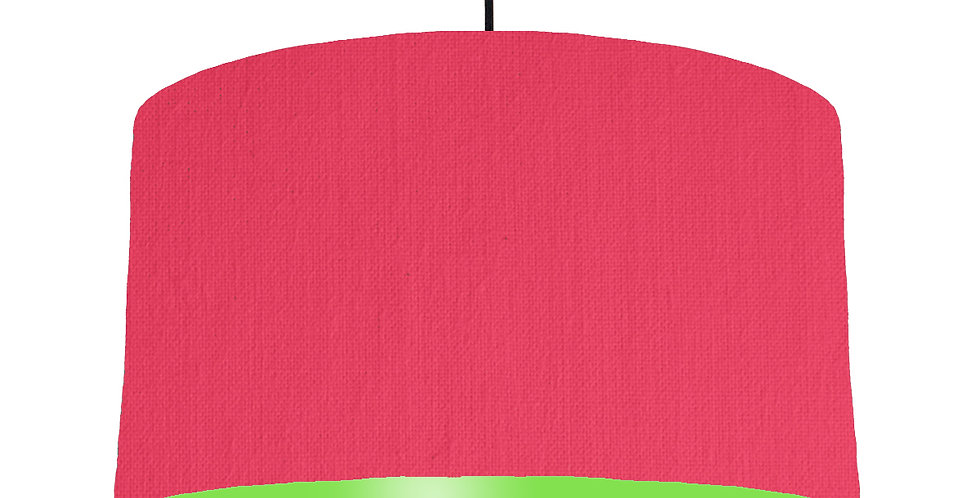 Cerise & Lime Green Lampshade - 50cm Wide
