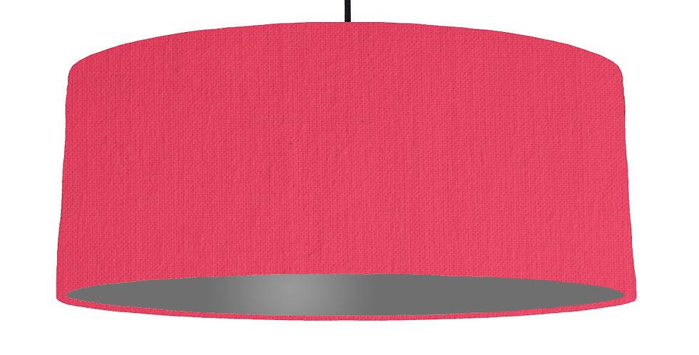 Cerise & Dark Grey Lampshade - 70cm Wide