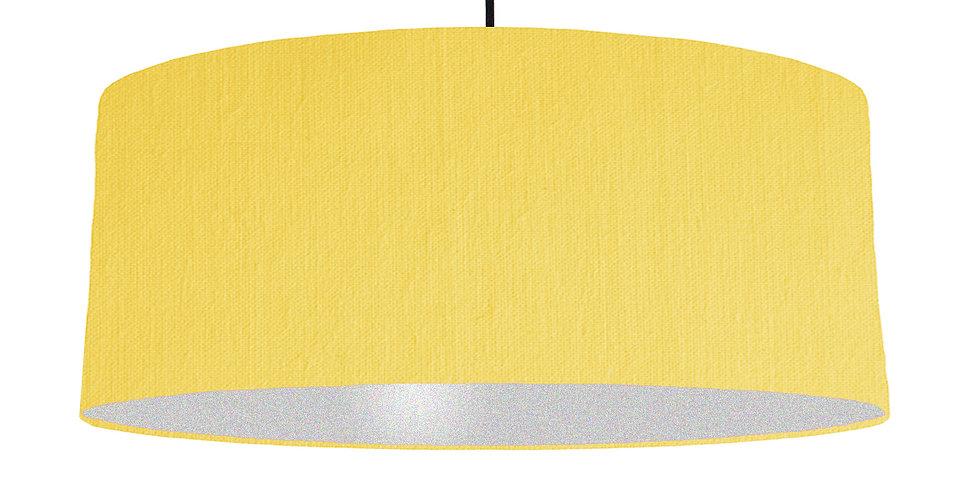 Lemon & Silver Lampshade - 70cm Wide