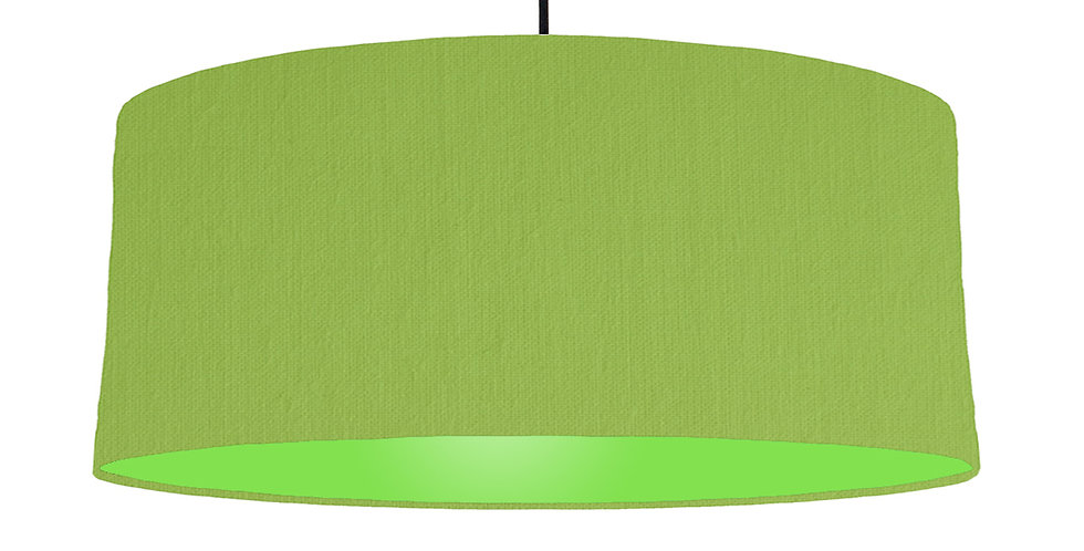 Pistachio & Lime Green Lampshade - 70cm Wide