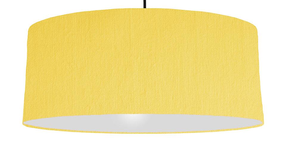 Lemon & Light Grey Lampshade - 70cm Wide