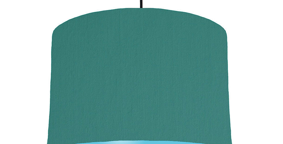 Jade & Light Blue Lampshade - 30cm Wide