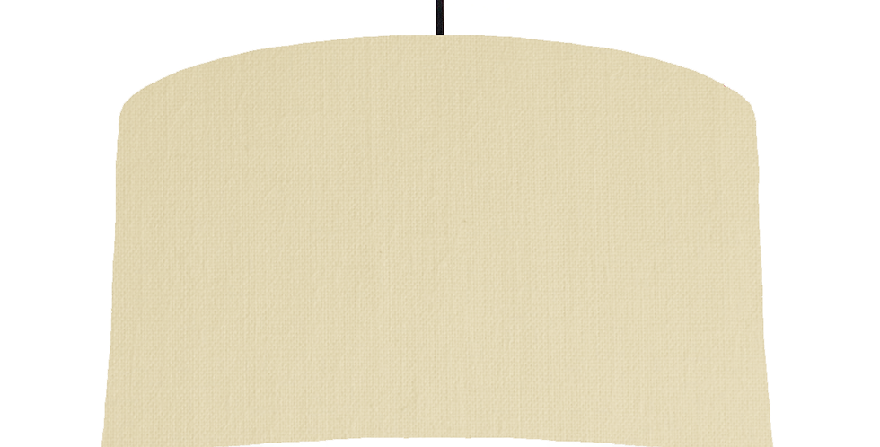 Natural & White Lampshade - 50cm Wide