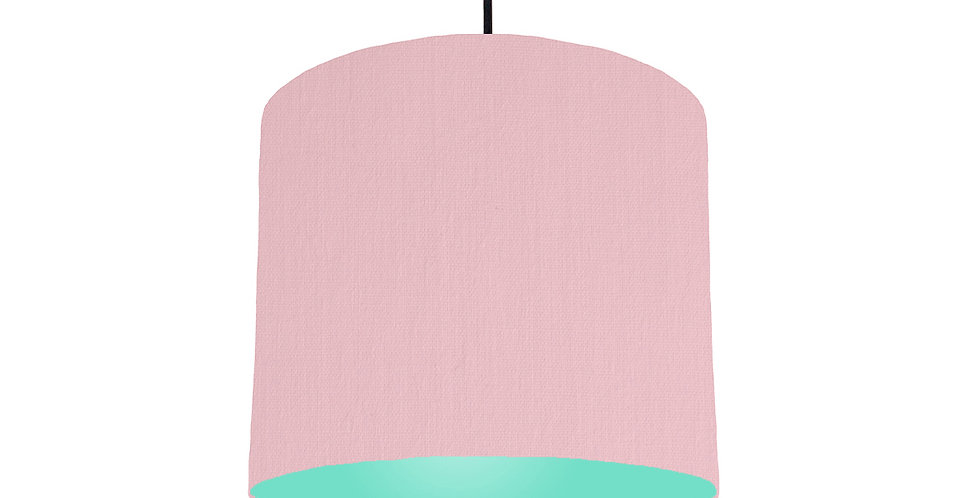 Pink & Mint Lampshade - 25cm Wide