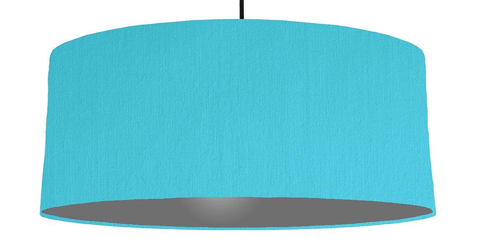 Turquoise & Dark Grey Lampshade - 70cm Wide