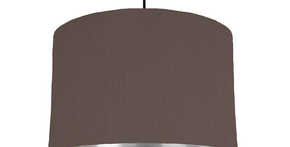 Brown & Silver Mirrored Lampshade - 30cm Wide