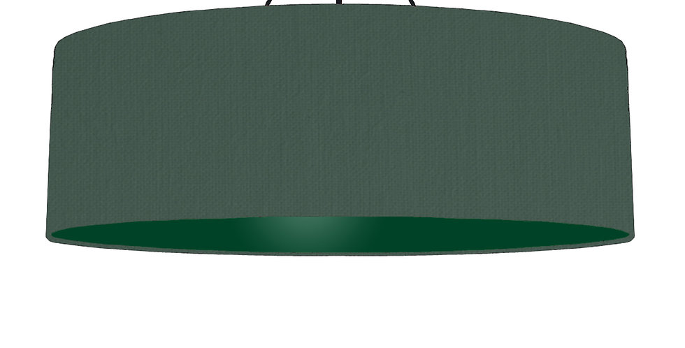 Bottle Green & Forest Green Lampshade - 100cm Wide