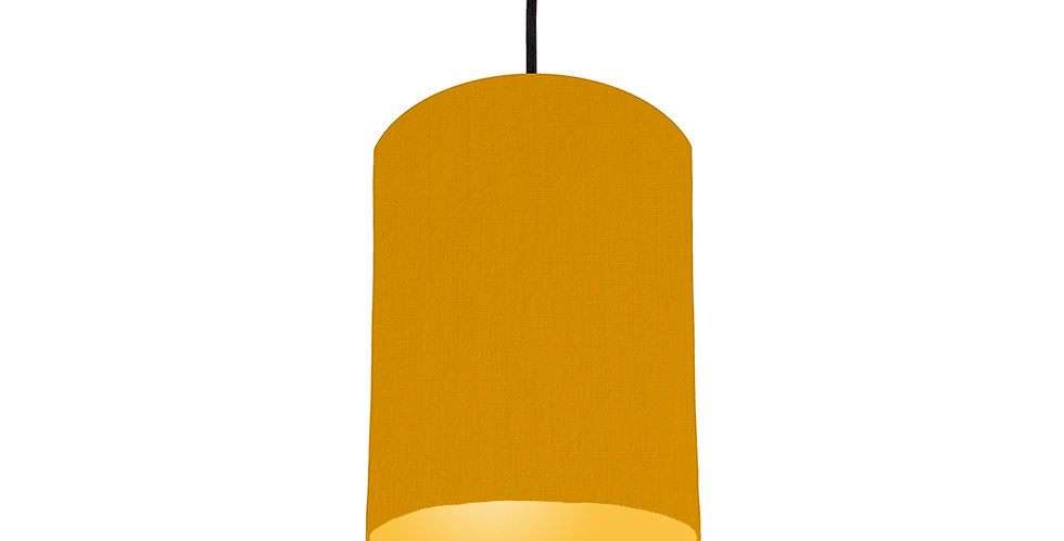 Mustard & Butter Yellow Lampshade - 15cm Wide