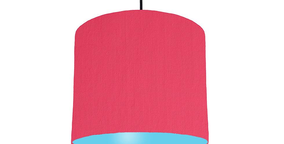 Cerise & Light Blue Lampshade - 25cm Wide