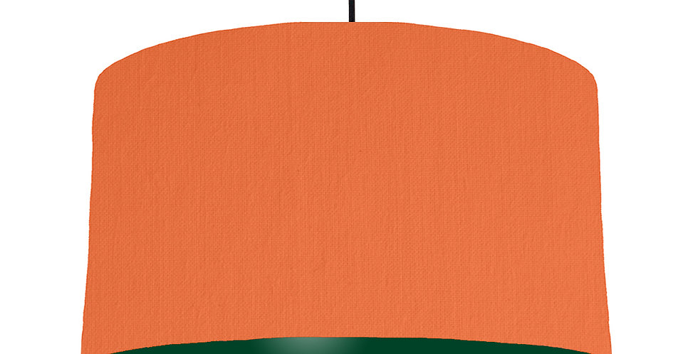 Orange & Forest Green Lampshade - 50cm Wide