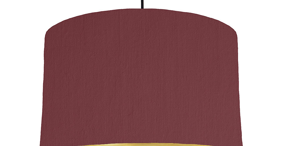 Wine Red & Brushed Gold Lampshade - 40cm Wide