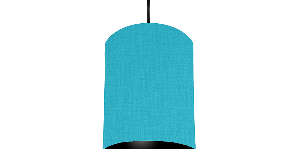 Turquoise & Black Lampshade - 15cm Wide