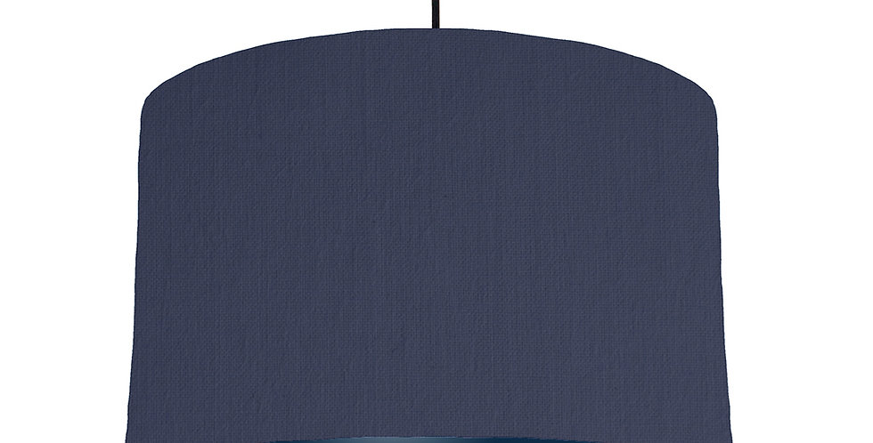 Navy Blue & Navy Lampshade - 40cm Wide