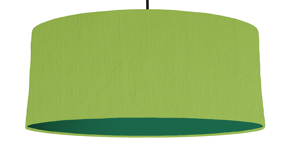 Pistachio & Forest Green Lampshade - 70cm Wide