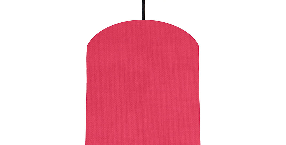 Cerise & Wood Lined Lampshade - 20cm Wide