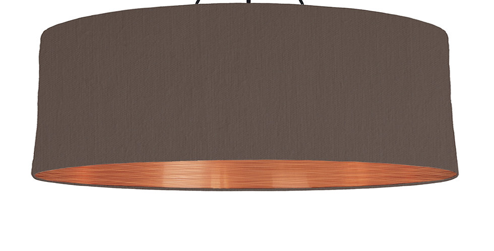 Brown & Brushed Copper Lampshade - 100cm Wide