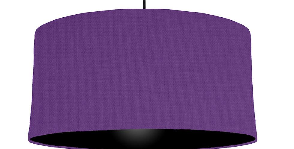 Violet & Black Lampshade - 60cm Wide