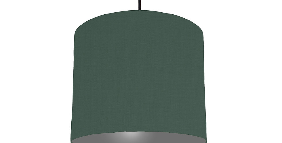 Bottle Green & Dark Grey Lampshade - 25cm Wide